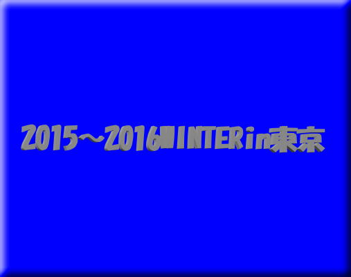 WINTER2015〜2016in東京